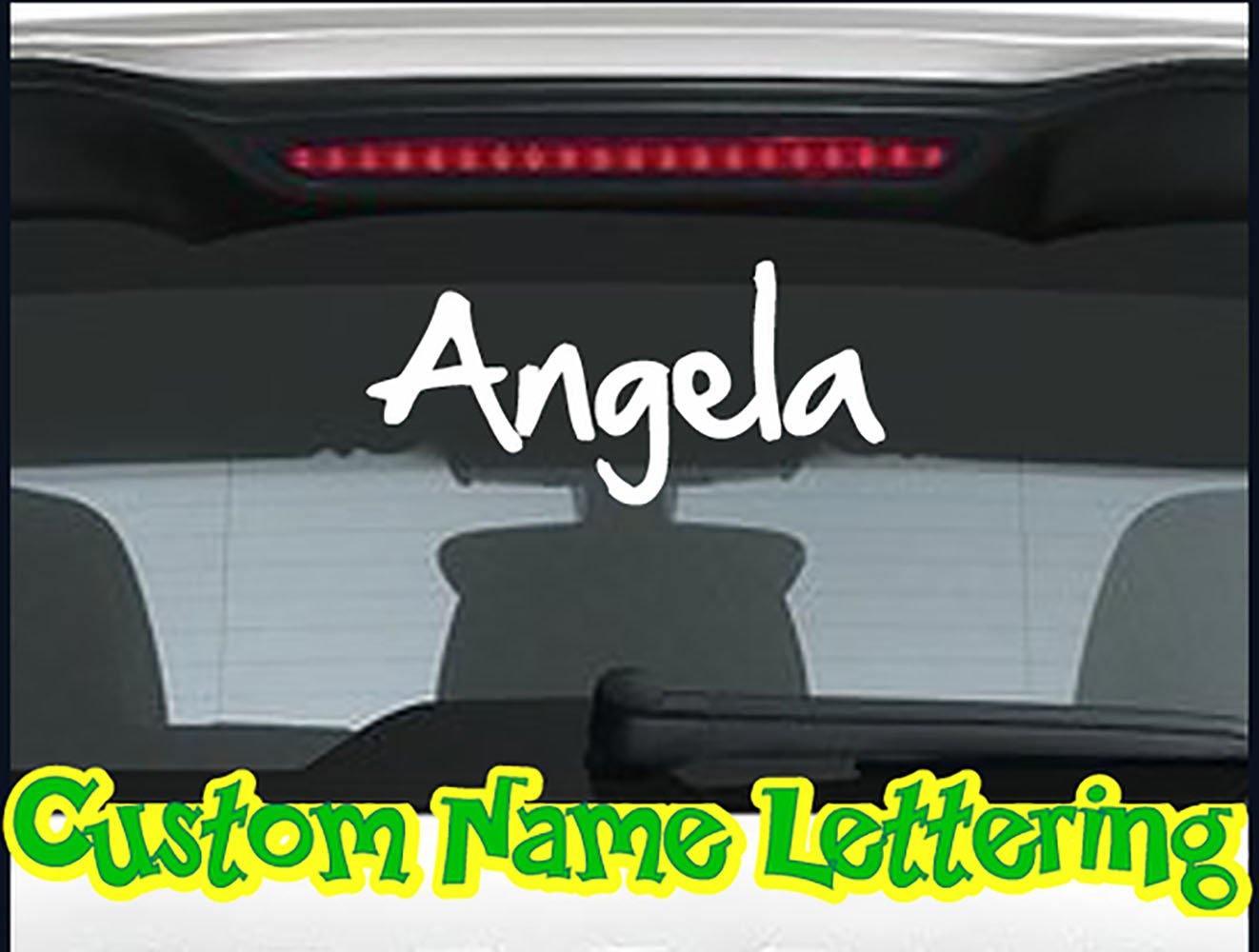 Amazon com custom names or any text personalized car wall vinyl decals stickers 15 inches home kitchen