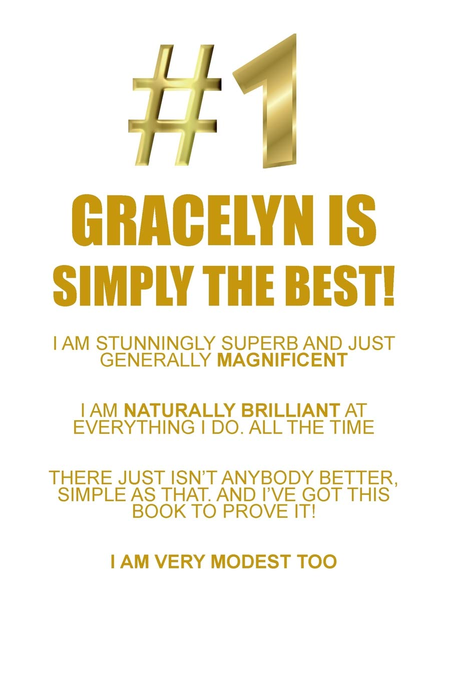 Gracelyn Is Simply The Best Affirmations Workbook Positive