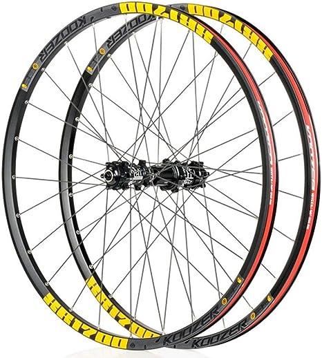 LSRRYD 27.5 Pulgadas Rueda Delantera Trasera para MTB Bicicletas Ruedas de Ciclismo aleación Aluminio 8 9 10 11 Velocidad (Color : Yellow, Size : 27.5inch): Amazon.es: Deportes y aire libre