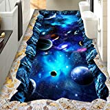 ZLJTYN 270cmX180cm Custom Large Floor Wallpaper 3D Planet Stereoscopic Floor 3D Mural Vinyl Non-slip Self-adhesion Waterproof Wallpaper
