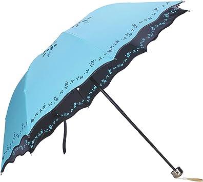Folding Umbrella Rainbow Anti-UV Parasols Proof Women Compact Travel Protection