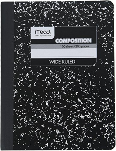 Mead Composition Notebook, Wide Ruled, 100 Sheets, 12 Pack (72936)