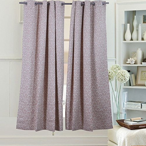 Beryhomes Windsor Simply Beautiful Floral Print Energy Efficient Curtain Drapery With Thermal Insulated 100  Blackout Fabric  Set Of 2 Panels  Size  Width 52X Length 63  W52xl63  Terra Cotta