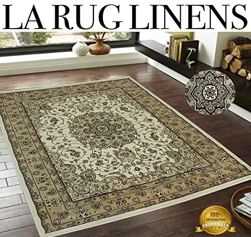 Tabriz Oriental Area Rugs - LA RUG LINENS 8x10 Huge Blowout Sale Brand New Beige Tan Ivory White Black Burgundy Brown Multicolor Persian Traditional Floral Elegance Tabriz Classic Oriental Tribal Tibetan Medallion Rug Carpet