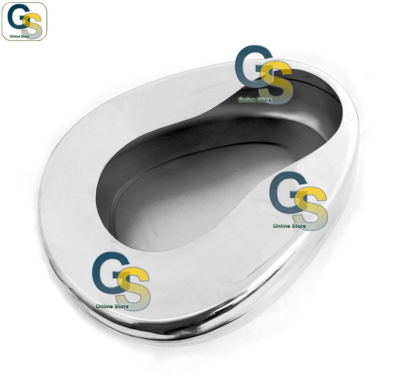 G.S STAINLESS STEEL BED PANS ADULT: 14'' X 11 3/8'' BEST QUALITY