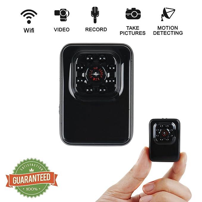 Crazepony-UK Mini Camara Espias WiFi R3 Wireless HD Camcorder with IR Night Vision Mini Camera 1080P Sports Small Camera DV Video Recorder by: Amazon.es: ...