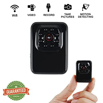 Crazepony-UK Mini Camara Espias WiFi R3 Wireless HD Camcorder with IR Night Vision Mini