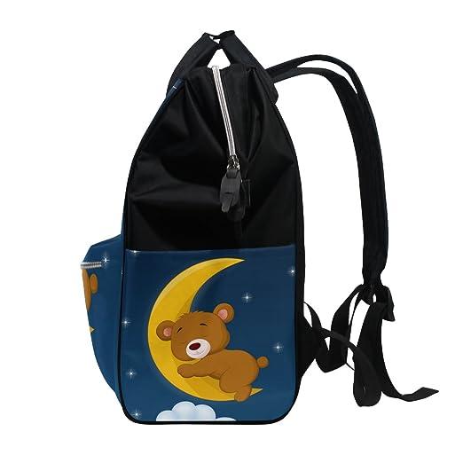 COOSUN - Mochila de viaje con diseño de oso para dormir en la luna: Amazon.es: Bebé