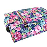 Handmade Watercolor Flower Fabric Book Sleeve - Padded - Perfect For Hardbacks Or Large Paperbacks - Cool Book Lover Gift