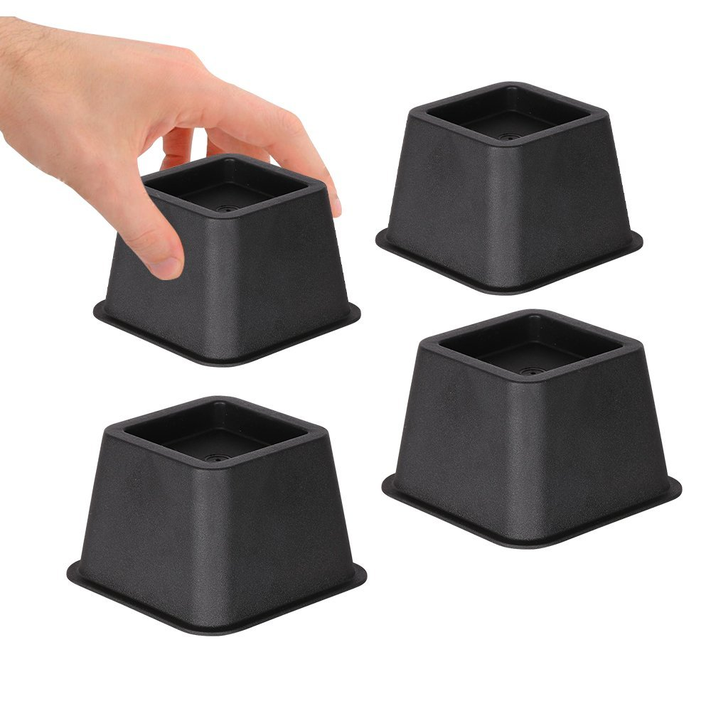 Duracasa bed risers or furniture riser 3 inches heavy for Furniture risers