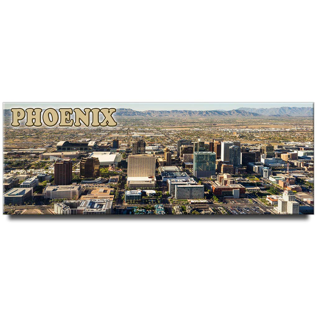 Phoenix panoramic fridge magnet Arizona travel souvenir
