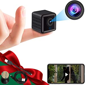 Hidden Camera Real 1080P HD Spy Camera Wireless Hidden Camera Mini WiFi Nanny Cam Portable Indoor Outdoor Security Camera with Phone App,Night Vision, Motion Detection Smallest Cam [2021 Newest]