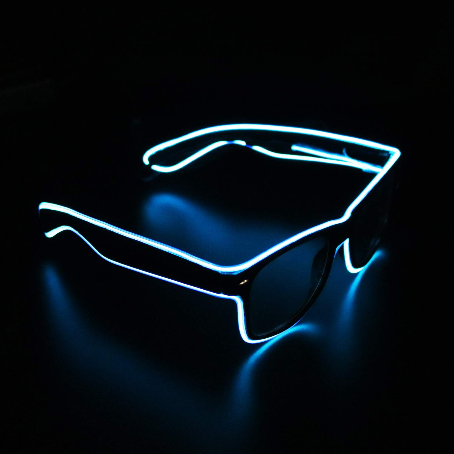 for Music Concert Live Verde 1 Raves Stage Performance Show,for Christmas Halloween Wild Party,Dance Ball,Crazy Parties Neon El Wire LED Lighting Up Slotted Shutter Glasses Eyeglasses Eyewear