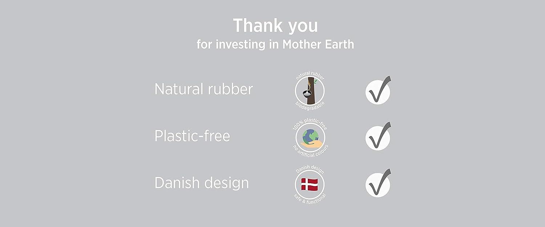 Natural Rubber and Beautiful Colour HEVEA Bigger upcycled Bath mats Granite