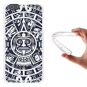 WoowCase - Funda Gel Flexible { iPhone 6 Plus 6S Plus } Calendario Azteca Carcasa Case Silicona TPU Suave