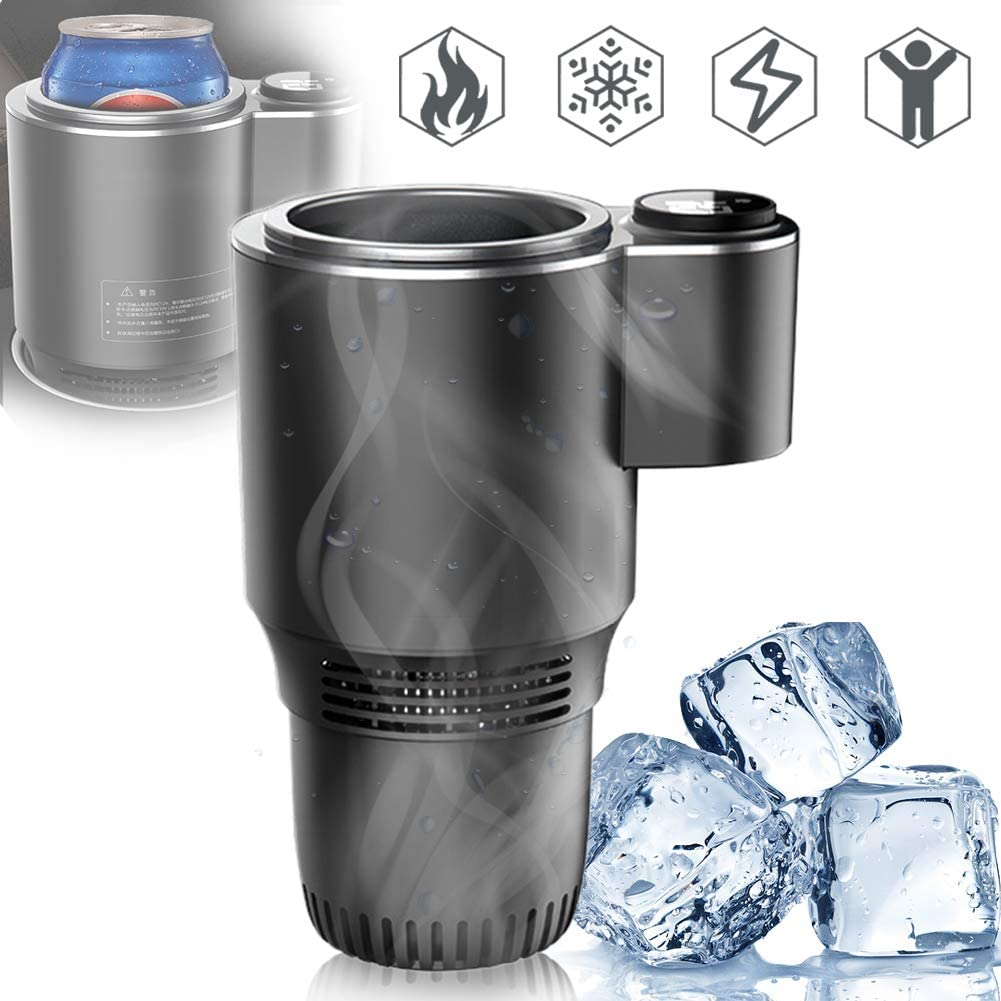 HUA JIE 12v Car Quick Refrigerated Cup, Led Display, Quick Cooling Cup, Touch Wine Champagne Chiller Cooler Portable for All Baby Bottles XL Beer Soda Can