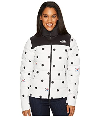 The North Face International Collection Nuptse Jacket Vaporous Grey Dot  Print Women s Coat 3f5fde5c1