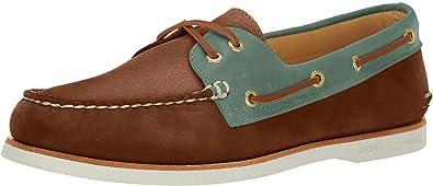 Eye Catskill Boat Shoe Men 7.5 Tan/Blue