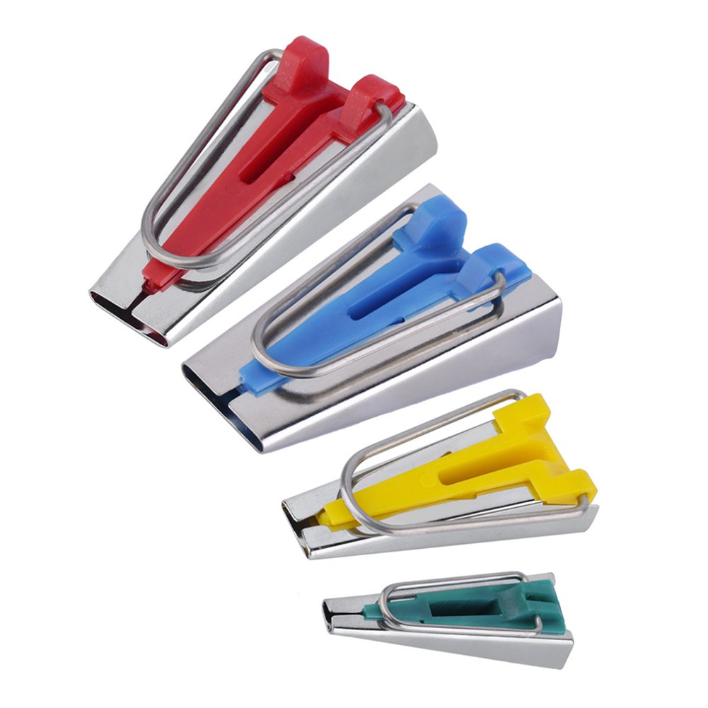 LianLe 4 PCS Tessuto Maker Cucito Patchwork Accessori per Cucire Tape Maker Tool 6mm 12mm 18mm 25mm