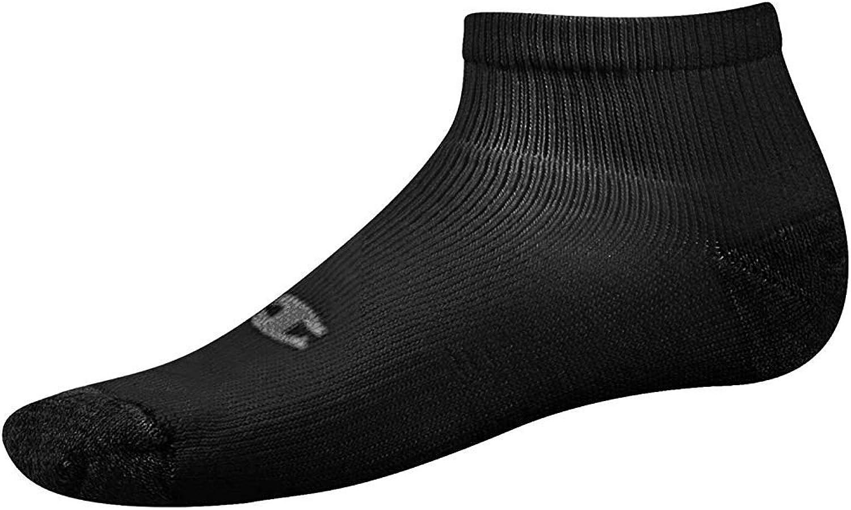 Champion Men`s Performance Ankle-Length Athletic Socks - Black 10-13 6-PAck