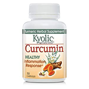 Kyolic Aged Garlic Extract Curcumin Healthy Inflammation Response Supplement, 50 Capsules