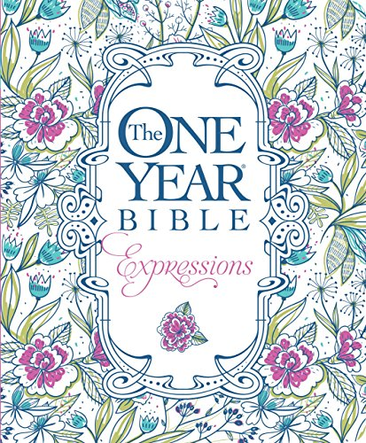 The One Year Bible Expressions (Softcover, Blue Flowers) (Chronological Order Of The Bible New Testament)