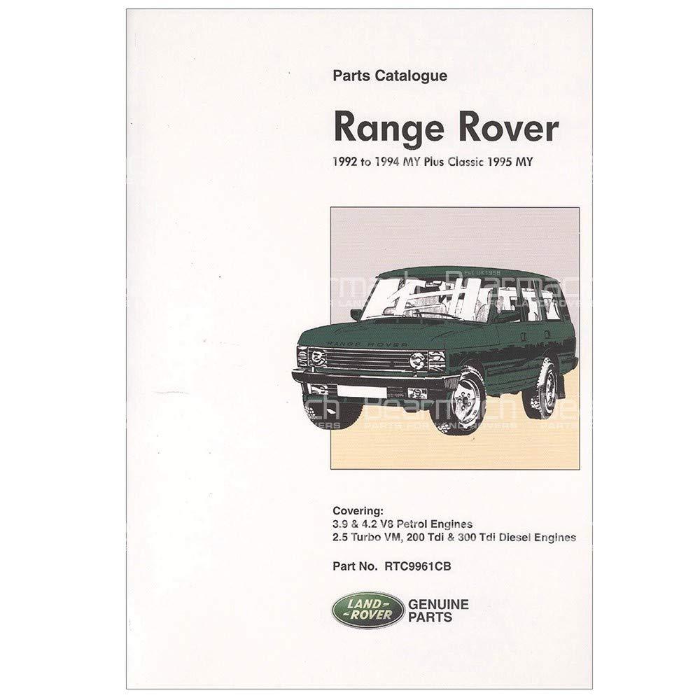BEARMACH OEM - Parts Catalogue - Range Rover Classic 1992-1994 Part# RTC9961C