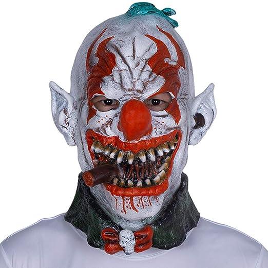 Disfraz de máscara de látex de miedo de Halloween Fiesta de zombie ...