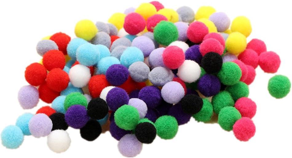 UEETEK Pompones de Colores Variados para Manualidad Round Pompon Ball Bola Fieltro 100 unids 4 cm color de la mezcla