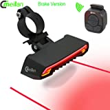 Meilan Smart Wireless Control Bike LED Front and Back Light,Brake Tail Light and USB Rechargeable Bike Lights