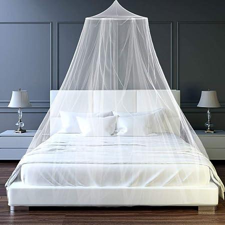 Moustiquaire de lit,Grande moustiquaire Insectes Protection Moustiquaire Protection Anti-Insectes Convient pour pour Lit Simple Lit Double Moustiquaire