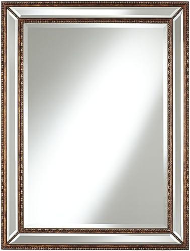 Uttermost Palais Bronze 30 x 40 Beaded Wall Mirror