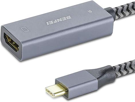 USB C to HDMI Adapter 4K@60Hz Thunderbolt 3 for Galaxy S10//S9 iPad Pro 2018 US