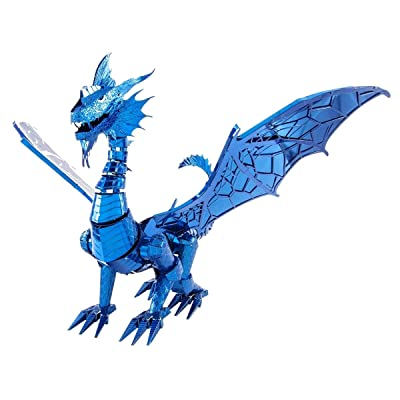 Fascinations Metal Earth ICONX Blue Dragon 3D Metal Model Kit: Toys & Games