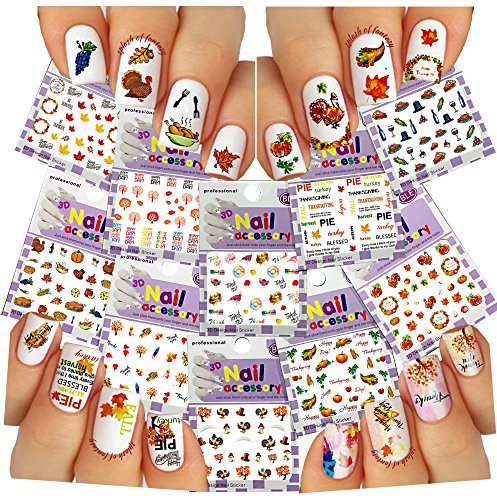 Nail Art 3D Stickers Thanksgiving Collection, /EE-IV/ by La Demoiselle