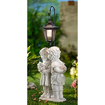 Unbekannt Solarlaterne Skulptur Garten Kunststein Deko Figur Solar