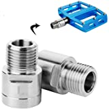 "NEW Chrome 27mm Bike Bicycle Pedal Adapter Fits 1//2/"" Cranks /& 9//16/"" Bike Pedals"