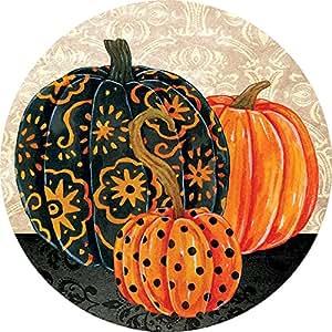 Accent magnet-halloween calabazas–Auto–Casa–cocina–Patio–seis (6) (–fabricado en Estados Unidos–Licencia, autor por Decoración personalizada Inc.