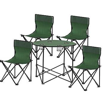 Mesa HUO sillas Plegables al Aire Libre Picnic portátil Rango de conducción Salvaje tamaño Opcional Multifuncional (Tamaño : Five-Piece): Amazon.es: Hogar