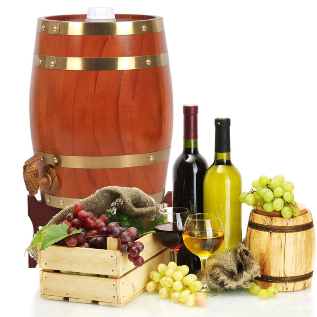 Barril de Vino de Madera Dispensador para Guardar su Propio Whisky, Cerveza, Vino, borbón, Brandy, Salsa Caliente y más - 10 litros: Amazon.es: Hogar