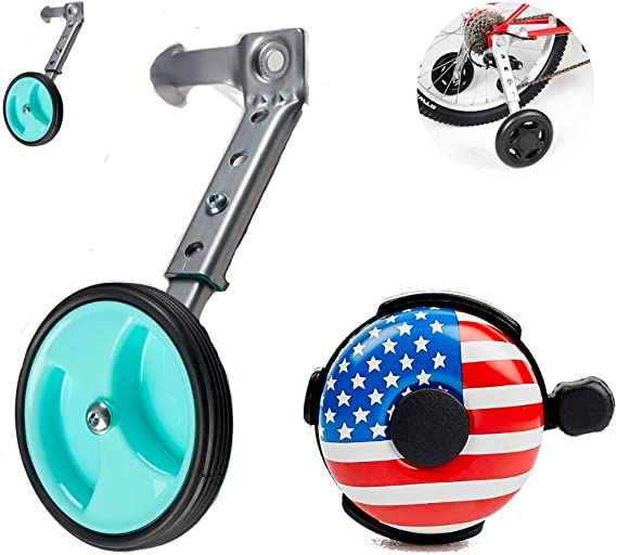Ciao! Sports & Outdoors Adjustable Variable Speed Bicycle Training Wheels for Girls Boys 16 18 20 22 24 Inch. A Perfect stabilizer Accessories Package for Kid