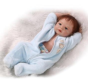Amazon.es: ZIYIUI 45 cm Realista Muñecos Bebé de Silicona Completa ...