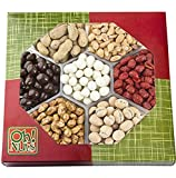 Holiday Nut Gift Basket, Fathers & Mothers Gourmet Christmas Food, Peanuts Variety Assortment, Send a Prime Tray for Man, Woman & Families for Thanksgiving, Birthday & Get Well Care Package - Oh! Nuts