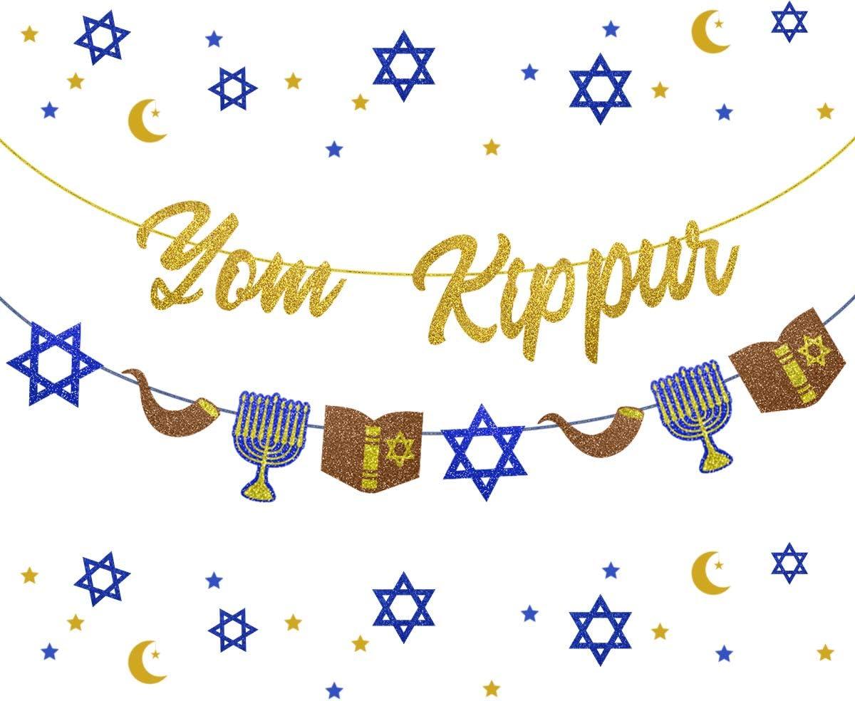 Yom Kippur Banner Jewish New Year Decoration Rosh Hashanah Party Decor Supplies Jewish Atonement Forgiveness Bunting Garland