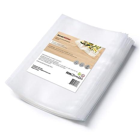 Bonsenkitchen Bolsas de Vacio para Alimentos, Rollos al Vacio Gofradas para para Conservación de Alimentos y Sous Vide Cocina, Boilable y sin BPA (50 ...