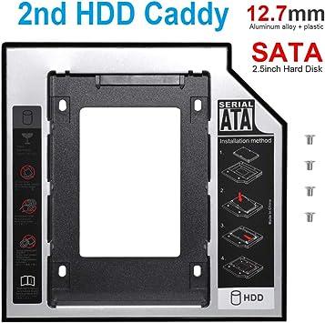 DEEPFOX - Bandeja de Disco Duro (12,7 mm, SATA a SATA, 2ª HDD para ...