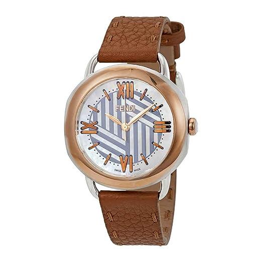 979dae551424 Fendi Selleria F8112365H0-BR - Reloj para mujer con esfera de nácar   Amazon.es  Relojes