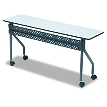 Iceberg ICE OfficeWorks Mobile Training Table With Charcoal - 18 x 60 training table