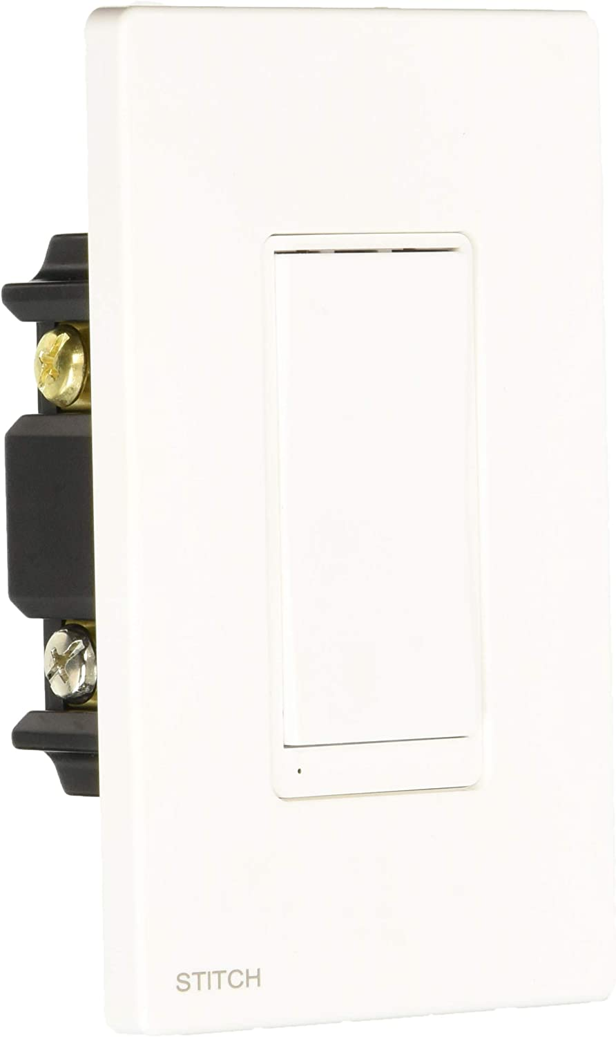 Monoprice Wireless Smart in-Wall On/Off Light Switch Wall Plate - White, Works with Alexa and Google Home, No Hub Required