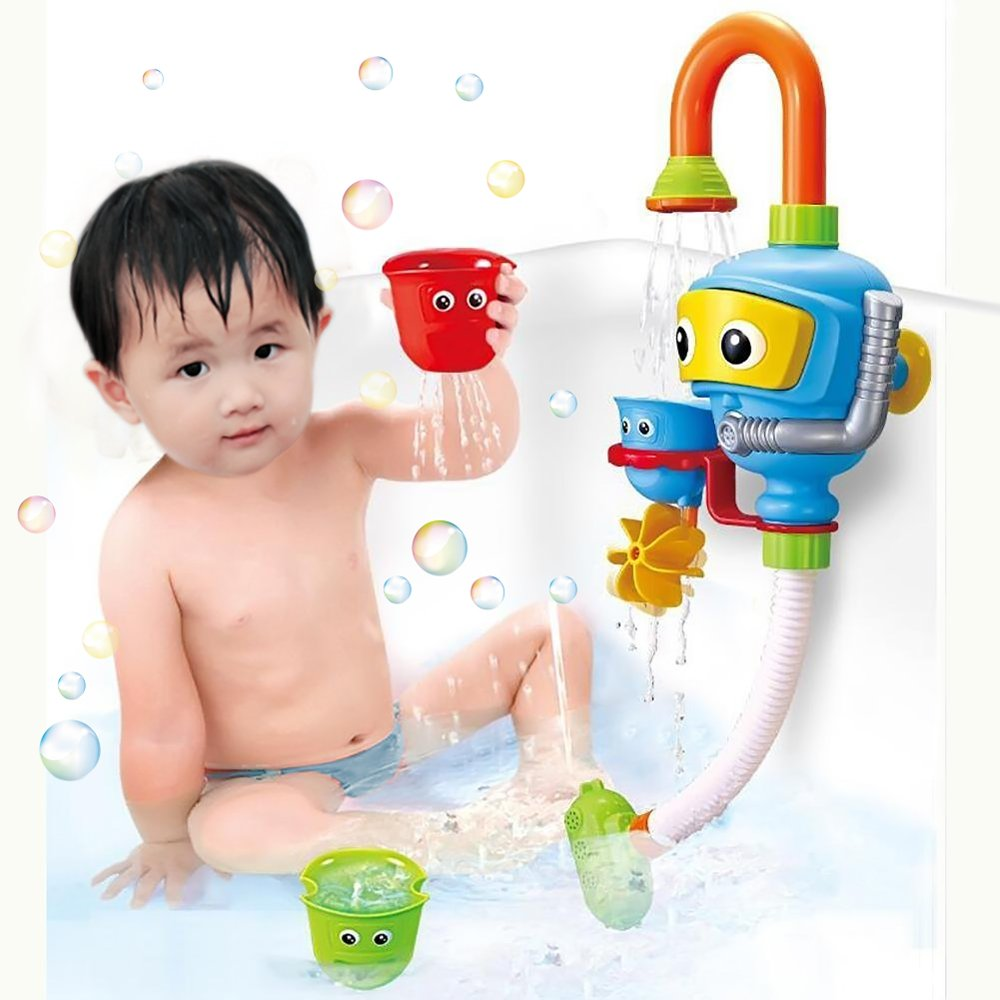 Baby Bath Shower Toys, Diver Spray Toys Spray Station Bathtub Toy - NO Batteries No Power Need QSWJ01